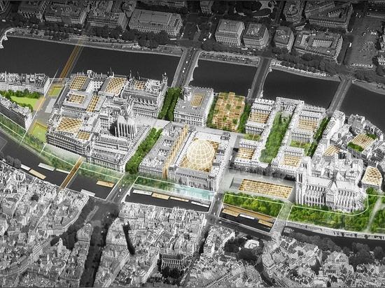dominique perrault + philippe bélaval propose a bright future for île de la cité in paris