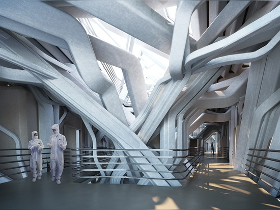 solid studio suggests nanonano science center as a sculptural network
