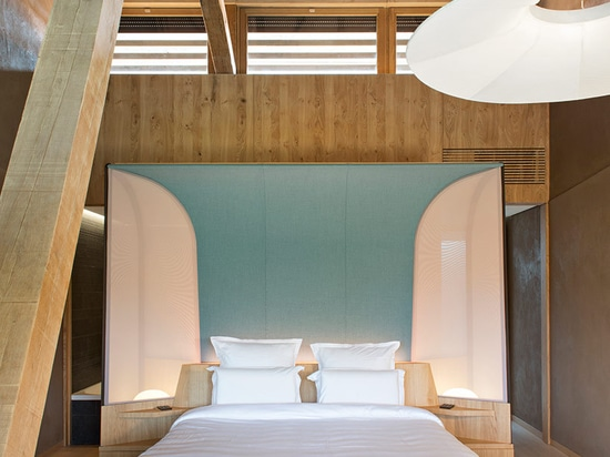 jouin manku envisions hotel des berges and spa for rest and relaxation