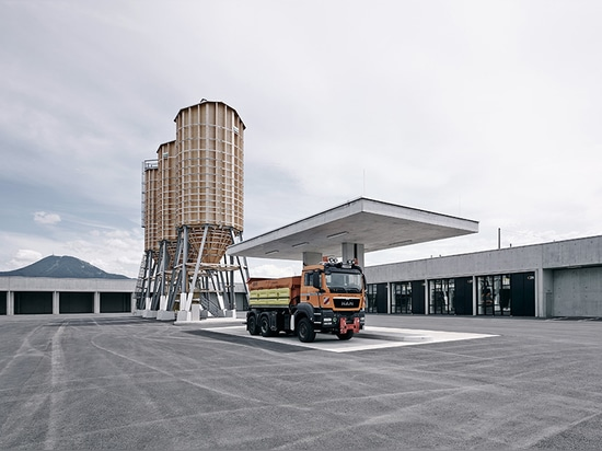 marte marte architects completes concrete motorway maintenance center near salzburg