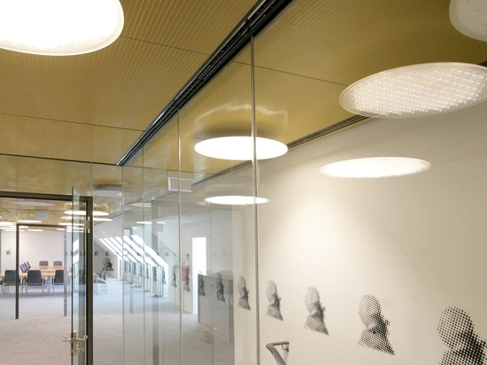 "Metallic mesh ceiling system in the ""King of England"""