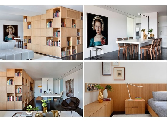 A Central Bookcase Hides The Entrance In This Apartment