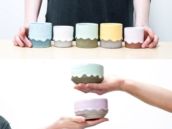 Brian Giniewski Ceramics Has Created A Collection Of Rainbow Drip Vessels