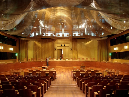 The Principal Courtroom of the European Court of Justice in Luxembourg