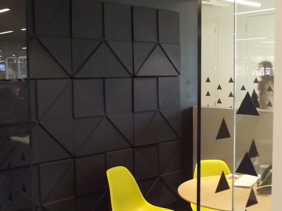 Soundtect acoustic panels installed at Merger Market
