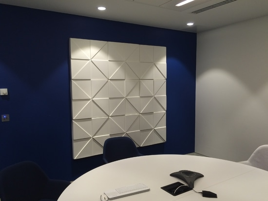 Soundtect acoustic panels installed at Merger Market