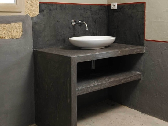 Micro-cement handbasins top