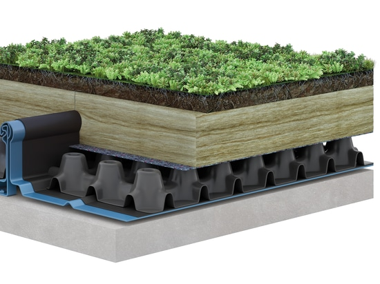 Green roof for RIB-ROOF