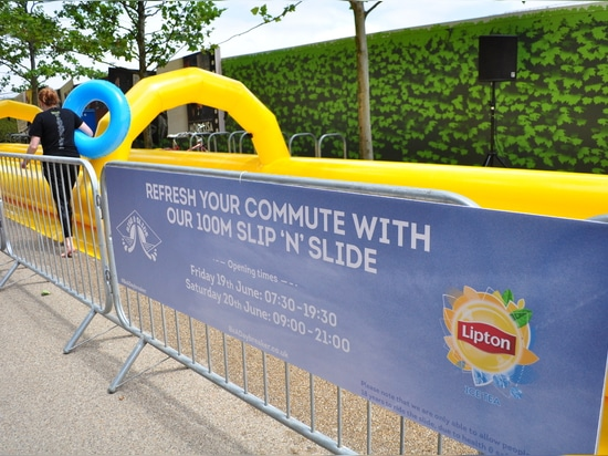 100m water slide for Lipton Ice Tea