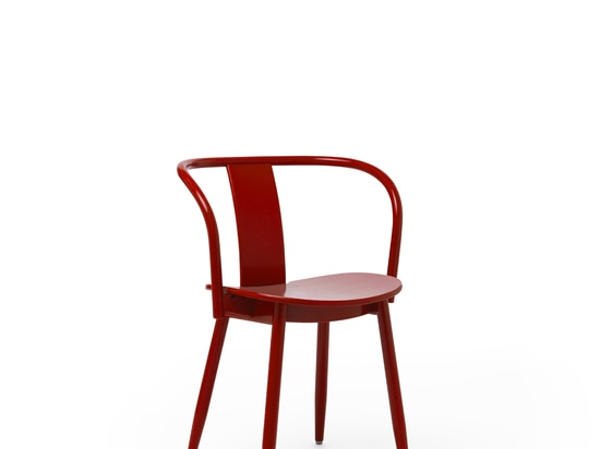 Icha Chair Red Lacquered Beech
