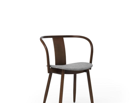 Icha Chair Walnut Stained Beech Upholstered Seat
