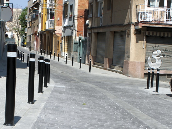 A-Resist installed flexible bollards