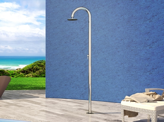 Inoxstyle Sole 60 M Beauty - Stainless steel nautical outdoor shower for swimming pool and garden