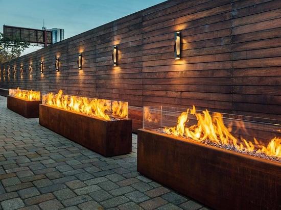 Bespoke Komodo outdoor gas fires