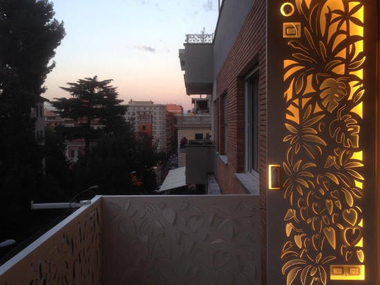 Back-lit screens for terraces and decks