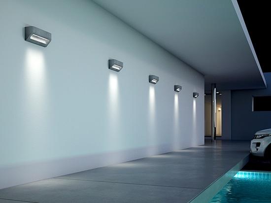DESMI concrete LED wall light