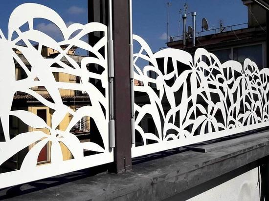 Terrace screens