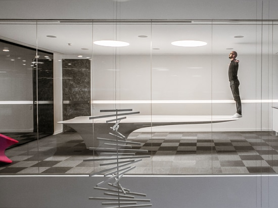 A gravity defying KRION table