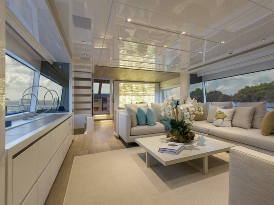Sanlorenzo 86 yacht by Marty Lowe Interior Design