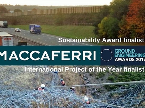 Maccaferri shortlisted as a finalist at the 2017 Ground Engineering Awards