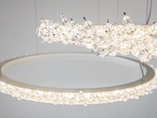 Halo crystal chandelier