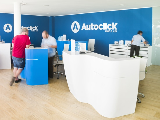 The company AutoClick Rent a Car puts its trust in KRION for the desks in its offices