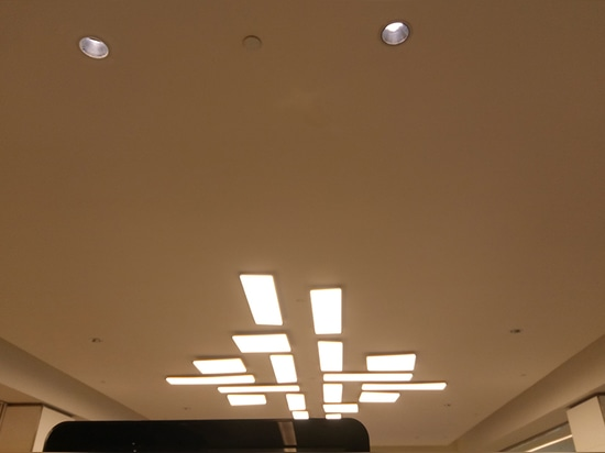Mascot's Innova Deep optical darklight reflector downlights for shopping center
