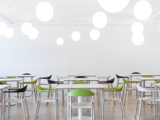 "Italian design furniture: MONZA armchair at professional school ""Gutenberg"", Bolzano/Italy"