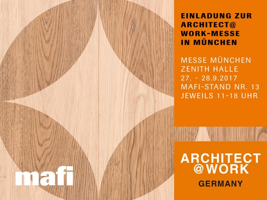 MAFI AT THE ARCHITECT@WORK FAIR IN MUNICH, FROM THE 27th UNTIL 28th OF SEPTEMBER