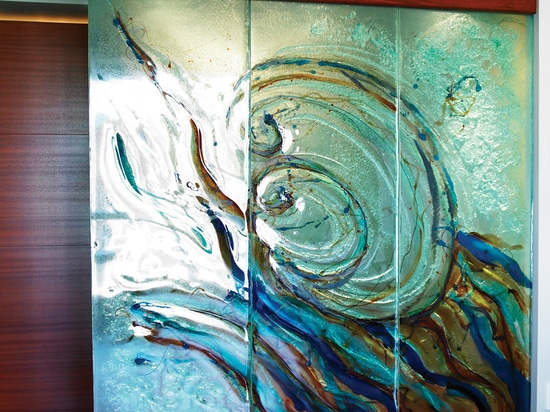 Art mural glass
