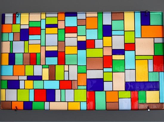GIARDINI – wall mounted decorative glass panel