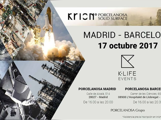 Madrid and Barcelona to host simultaneous presentations of KRION K-LIFE next 17 October