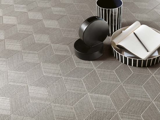 Tiles with textile effect