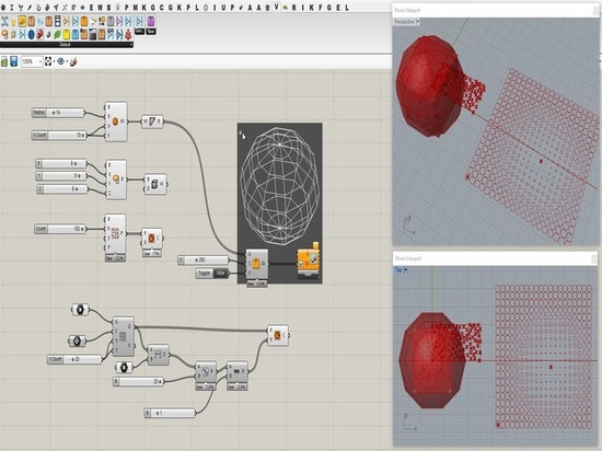 The GIF below demonstrates the Grasshopper3d.