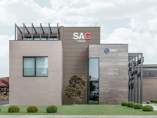 Laminam ceramic slabs for the exteriors of Sagtubi