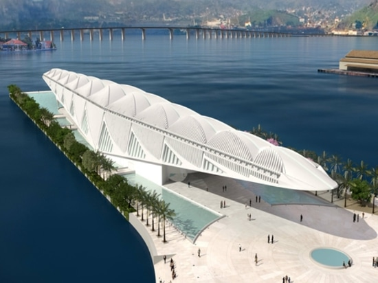 Rio's floating museum by Santiago Calatrava. Courtesy of the architect.