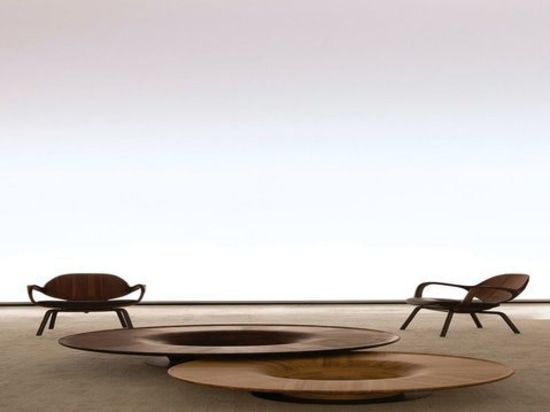 Clad chair and Twist table by Jader Almeida and manufactured by SOLLOS
