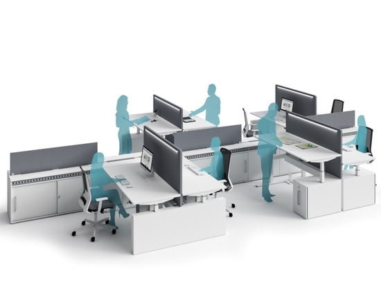 Height-adjustable desks with electrical structure