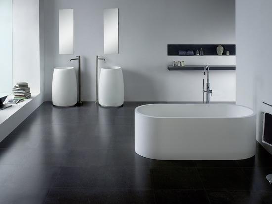 Cast stone solid surface bathtub PG11886
