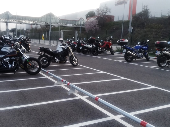 Wheel stops for parking