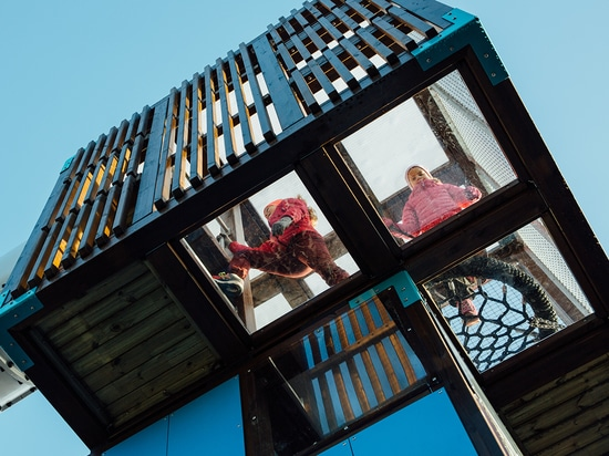 Cubis is the unmissable and space-economising monument of urban parks