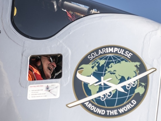 Cairo, Egypt, July 13th 2016: Solar Impulse successfully landed in Cairo after 2 days of flight with André Borschberg at the controls.