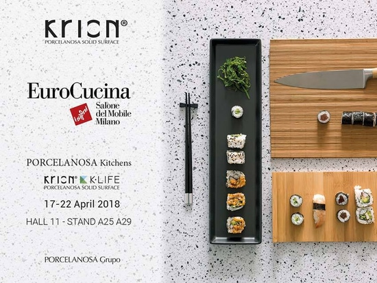 KRION present at EuroCucina, trends and new products in the kitchen sector
