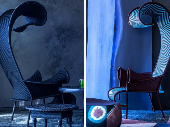The Shadowy chair from Moroso's M'Afrique collection