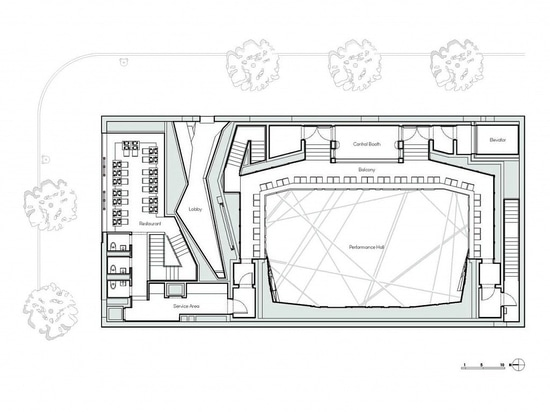 National Sawdust floor plan. Courtesy of the architect