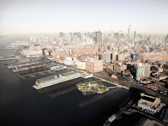 Heatherwick's Pier 55 to begin construction over New York's Hudson River