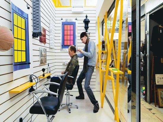Interior Design Spotlight: Sam Jacob designs Peckham hair salon where clients look at artwork instead of themselves