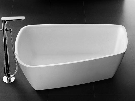 cast stone solid surface bathtub
