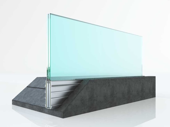 glass railing concrete