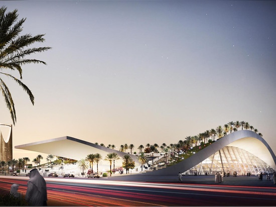 The new Olaya Metro Station design is part of the country's plan to redevelop Riyadh's metro system.   Read more: Lush green oasis will top Saudi Arabia's new dune-inspired metro station Olaya Metr...